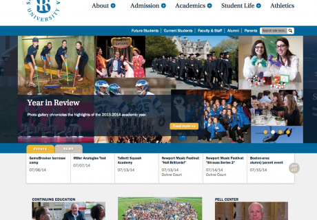Salve Regina University Website Screenshot